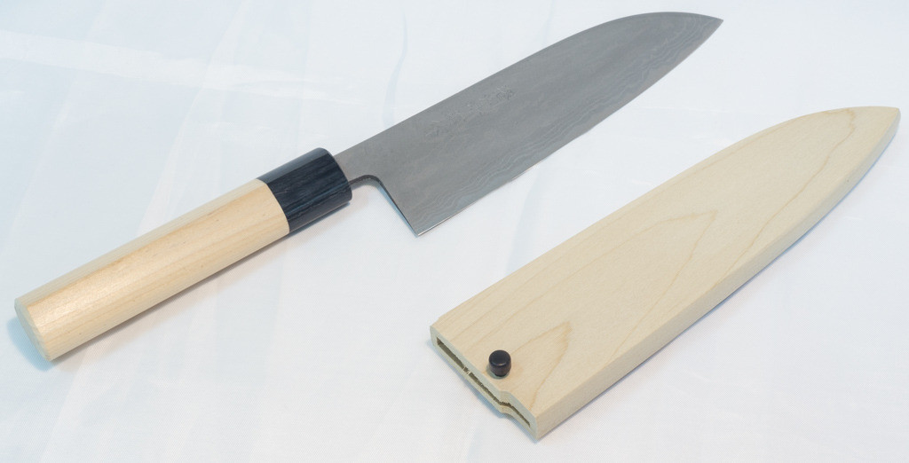 Santoku Knife 165mm with Wood Sheath