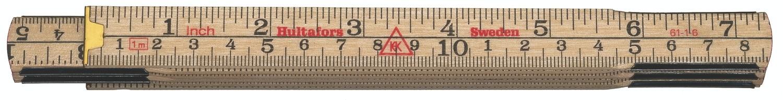 Hultafors Folding Rule 61 — 1m, 6 sections