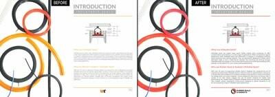 Brochure photoretouching