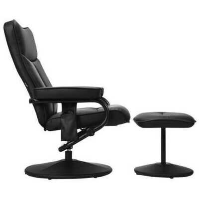 Electric Massage Recliner Chair with Ottoman and Remote Control - Size: 31.5
