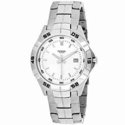 Fossil PR5338 Silver Stainless Steel White Dial Men's Watch
