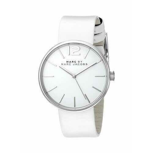 Marc Jacobs MBM1361 Peggy White Leather Women's Quartz Strap Watch
