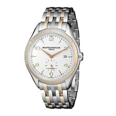 Baume & Mercier 10140 Clifton Two Tone Stainless Steel Silver Dial Men's Automatic Watch