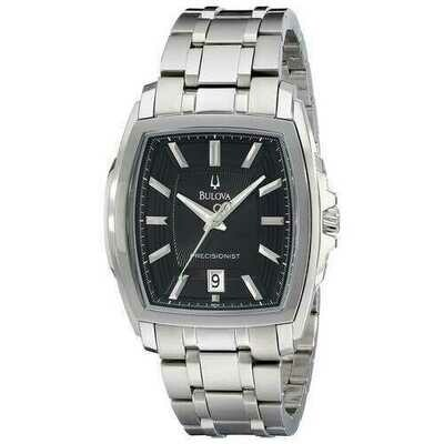 Bulova 96B144 Precisionist Stainless Steel Black Multi-Level Dial Men's Watch