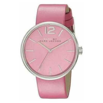 Marc Jacobs MBM1363 Peggy Pink Leather Women's Quartz Strap Watch