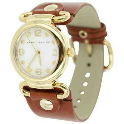 Marc Jacobs MBM8521 Molly Brown Leather White Dial Women's Watch