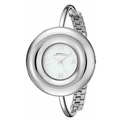 Marc Jacobs MBM3395 Donut Gloss White Dial Women's Stainless Steel Bangle Watch