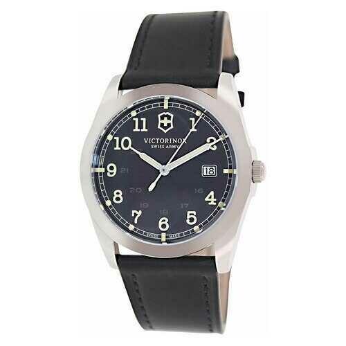 Victorinox Swiss Army 241584 Infantry Black Dial Men's Leather Quartz Watch