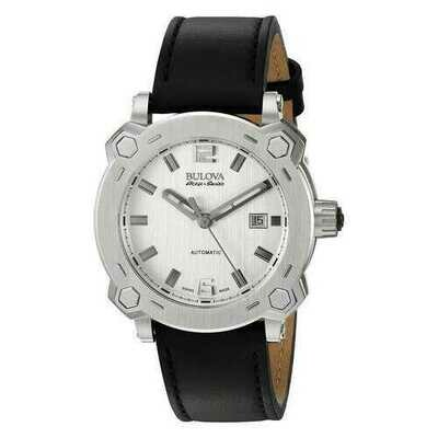 Bulova 63B191 Accu Swiss Percheron Automatic Stainless Steel Men's Strap Watch