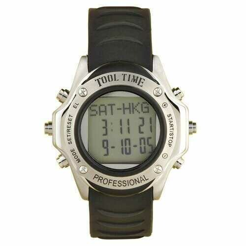 Field & Stream Tool Time Multi Function Shock Proof Shatter Resistant Data Chronograph Rugged Watch