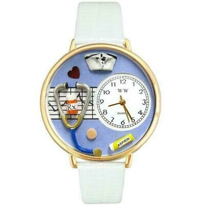 Nurse Blue Watch in Gold (Large)