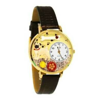 Pug Watch in Gold (Large)