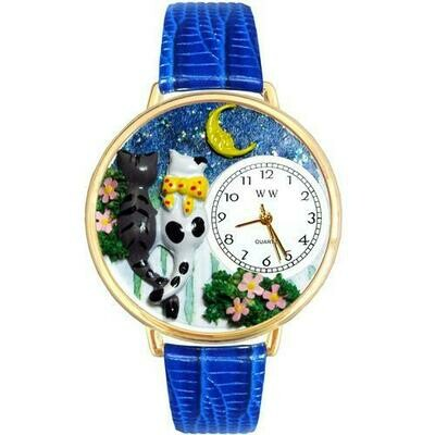 Cats Night Out Watch in Gold (Large)