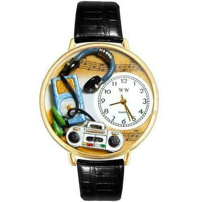 Music Lover Watch in Gold (Large)