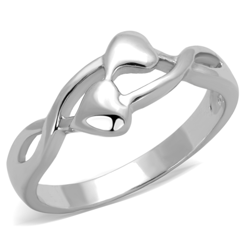 3W859 - Brass Ring Rhodium Women No Stone No Stone