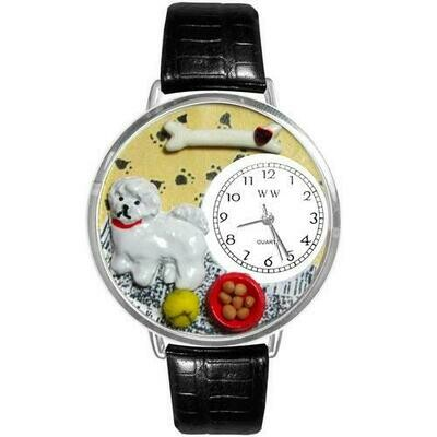 Bichon Watch in Silver (Large)