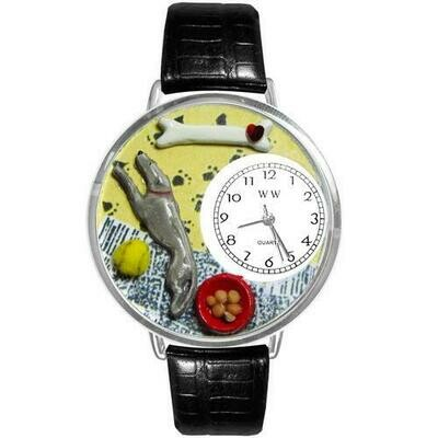 Greyhound Watch in Silver (Large)