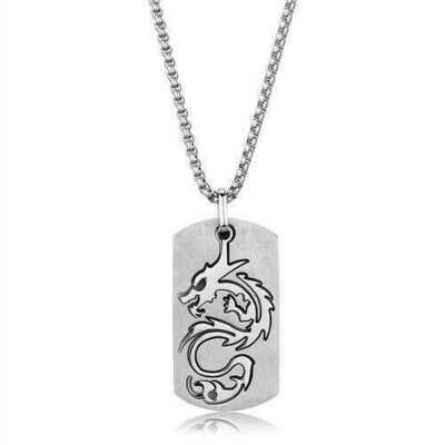 TK1980 - Stainless Steel Necklace High polished (no plating) Men No Stone No Stone