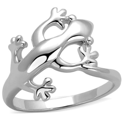 3W858 - Brass Ring Rhodium Women No Stone No Stone