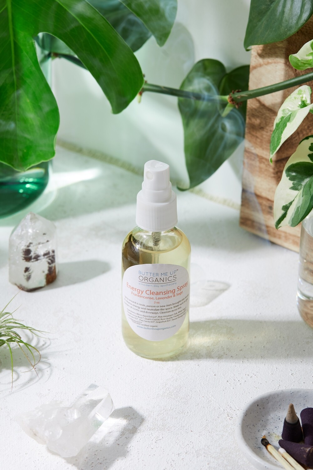 Organic Energy Cleansing Spray / Smudge Spray / Space Clearing /
