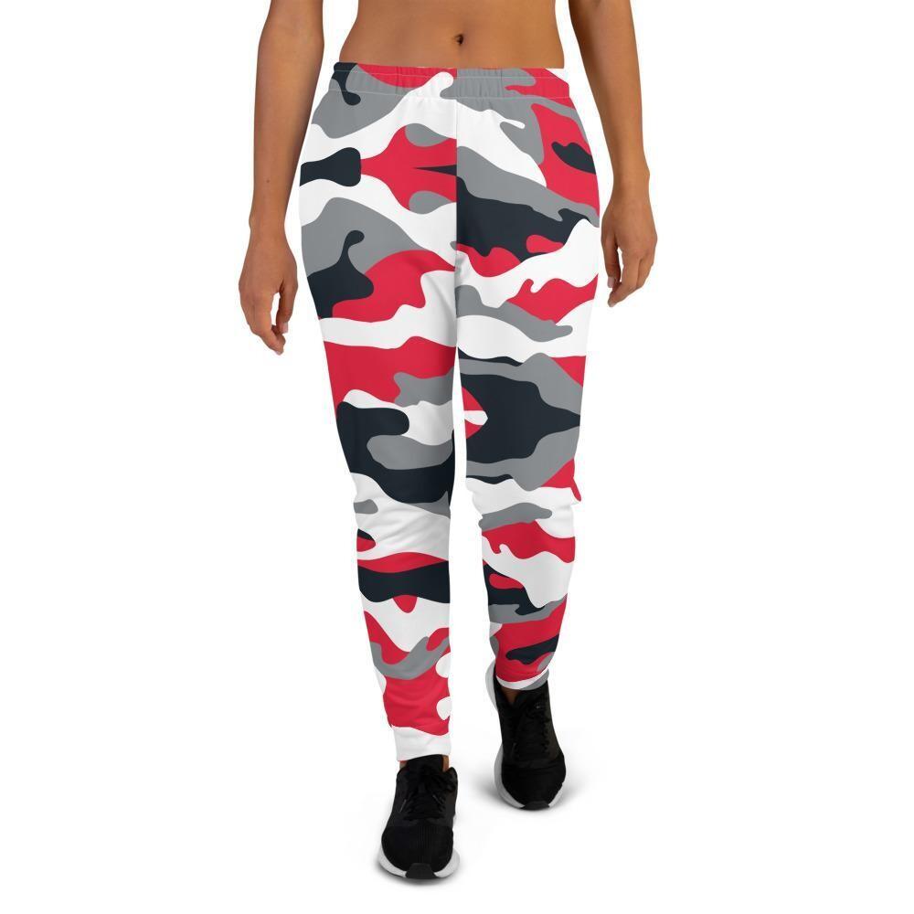 Women's Premium Red Camo Joggers