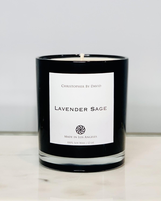 Lavender Sage - 12 oz 100% Soy Wax Candle