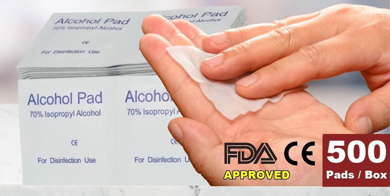 1000-PCS Disposable Alcohol Cotton Prep Pad Sterilization Swabs