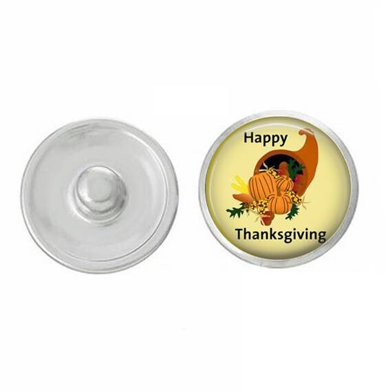 Thanksgiving - Happy Thanksgiving Snap for Jewelry - Bracelets - Charm