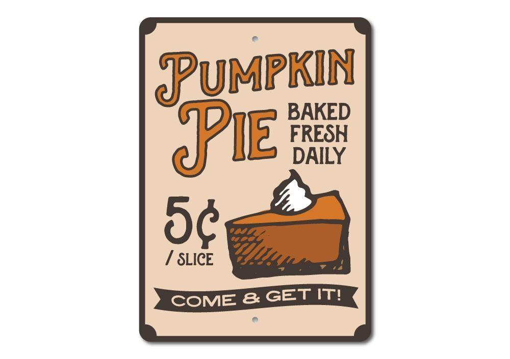 Pumpkin Pie Sign