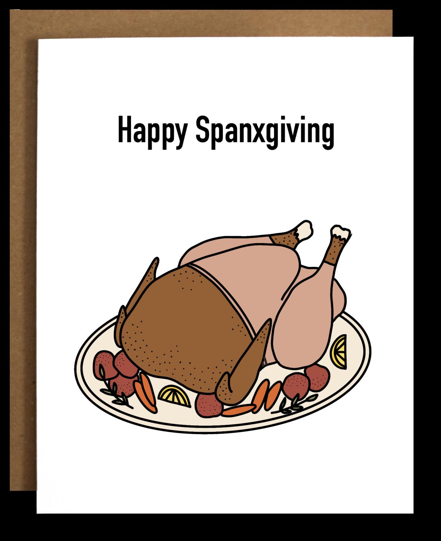 Happy Spanxgiving Card