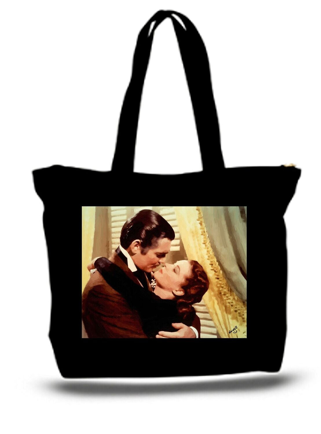 Large  Tote Grocery & Stuff Bag Gone With The Wind