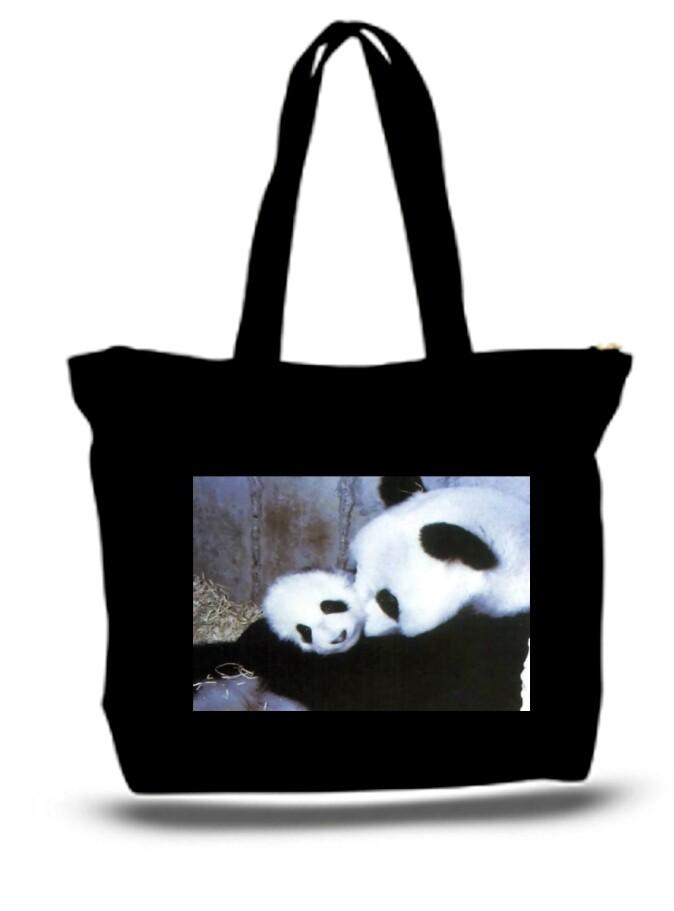 Panda bear and cub XXL Tote Bag For Groceries