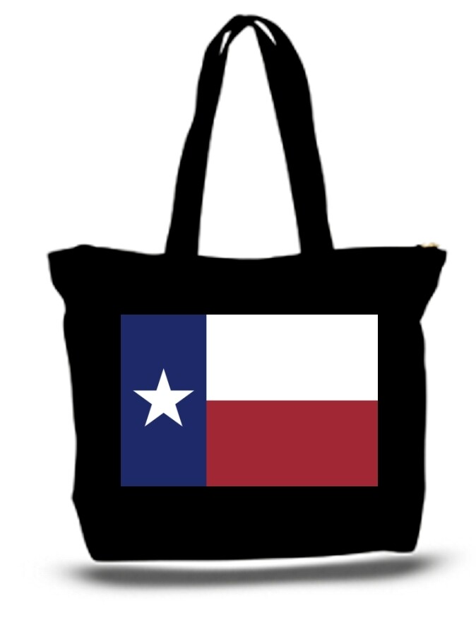 Large  Tote Grocery & Stuff Bag State Flag Of Texas