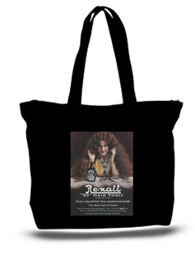 Large  Tote Grocery & Stuff Bag Relax Hair Tonic
