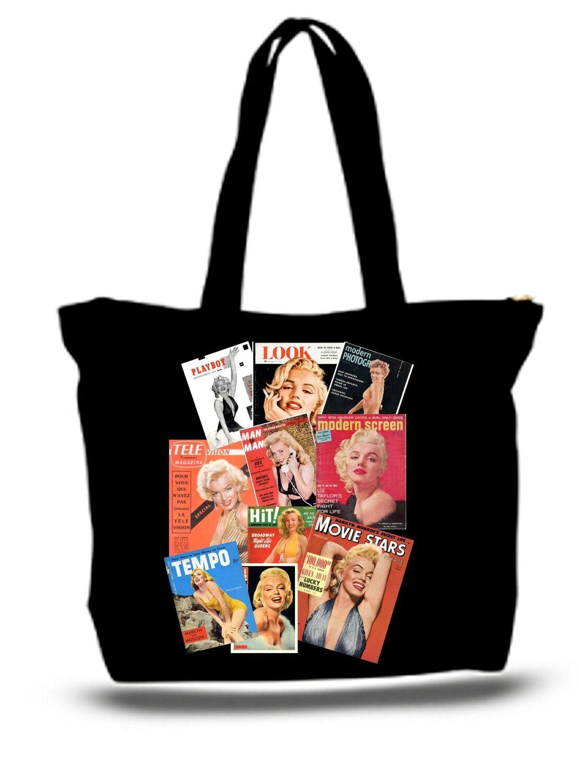Marilyn Monroe Tote Bag Magazine Photo Collage ToP Seller