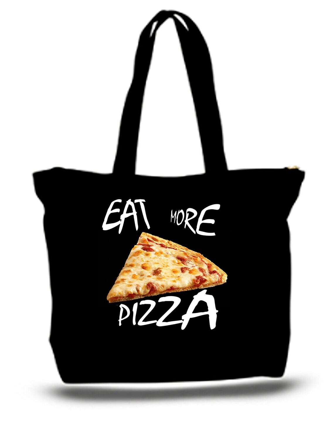 Large  Tote Grocery & Stuff Bag Eat More Pizza