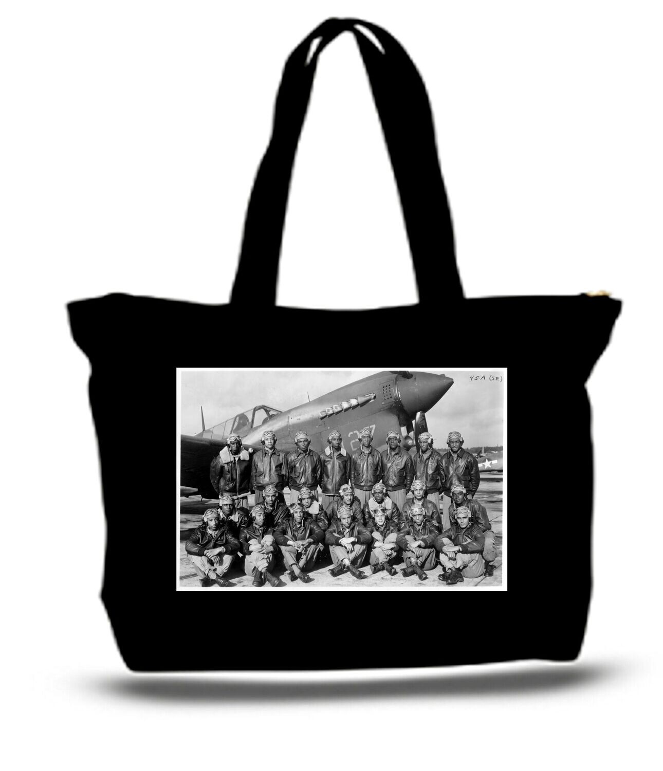 Large  Tote Grocery & Stuff Bag Tuskegee Airmen Red Tails