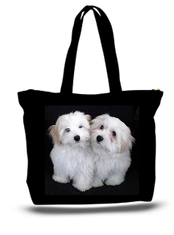 Large  Tote Grocery & Stuff Bag Poodles Standard