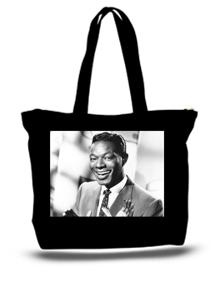 Large  Tote Grocery & Stuff Bag Nat King Cole