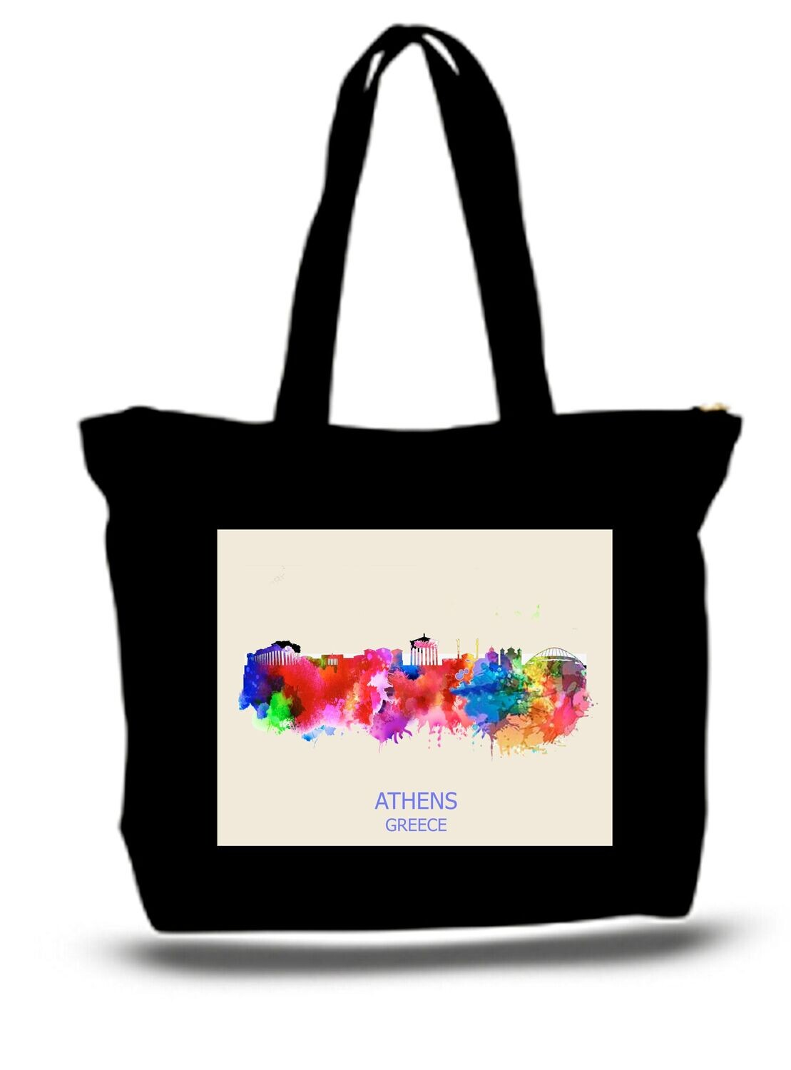 ATHENS GREECE XL TOTE BAG ALL PURPOSE GEAR STUFF Hold 50 Lbs
