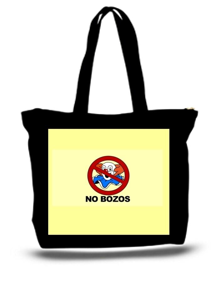 Large  Tote Grocery & Stuff Bag No Bozos