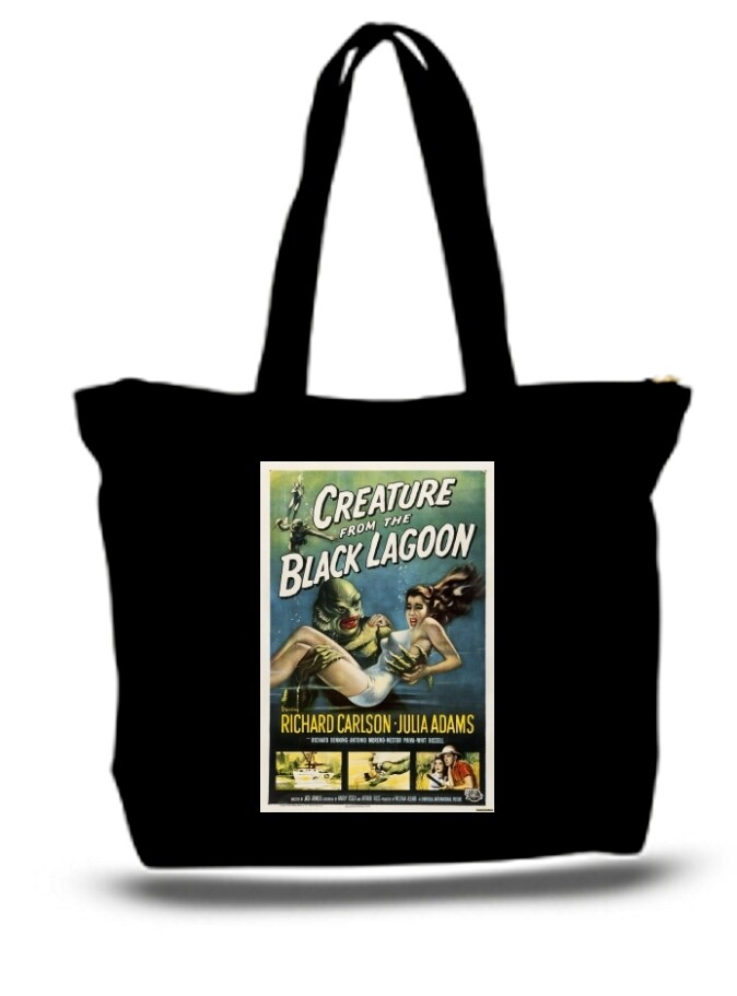 Large  Tote Grocery & Stuff Bag Creature From The Black Lagoon Poster