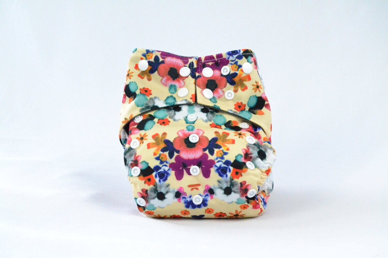 Earthlie Cloth Diaper - Flowers