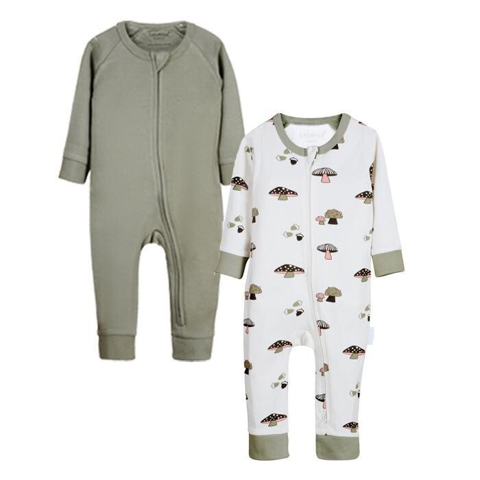 Newborn Gift Set- Organic Baby Clothes- 2 Printed Jumpsuits