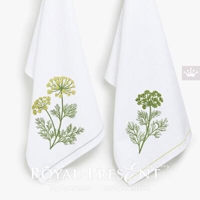 Дизайны для вышивальной машины Укроп