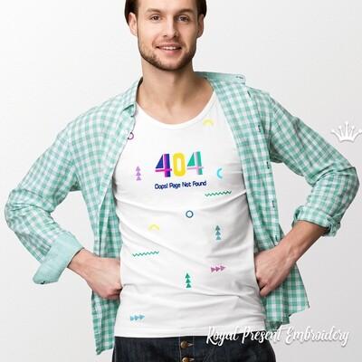 Ошибка 404 надпись Дизайны машинной вышивки - 6 в 1