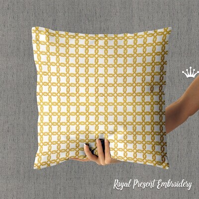Графический декор для бордюра и квилта Дизайн машинной вышивки - 5 размеров
