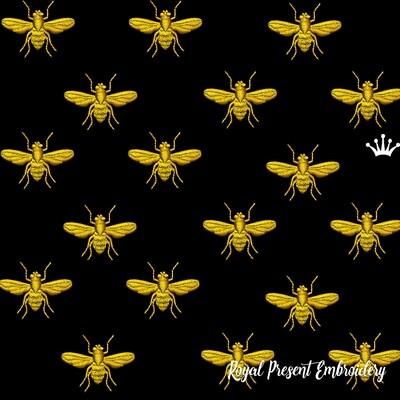 Дизайн машинной вышивки Пчела Наполеона