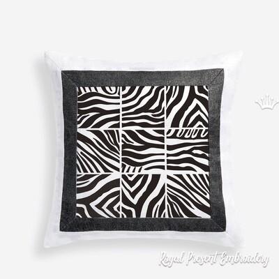 Принты Зебры для квилта Дизайны машинной вышивки