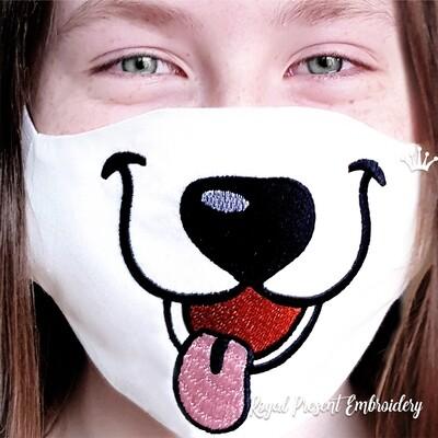 Детская защитная маска для лица Щенок Бесплатный Дизайн машинной вышивки
